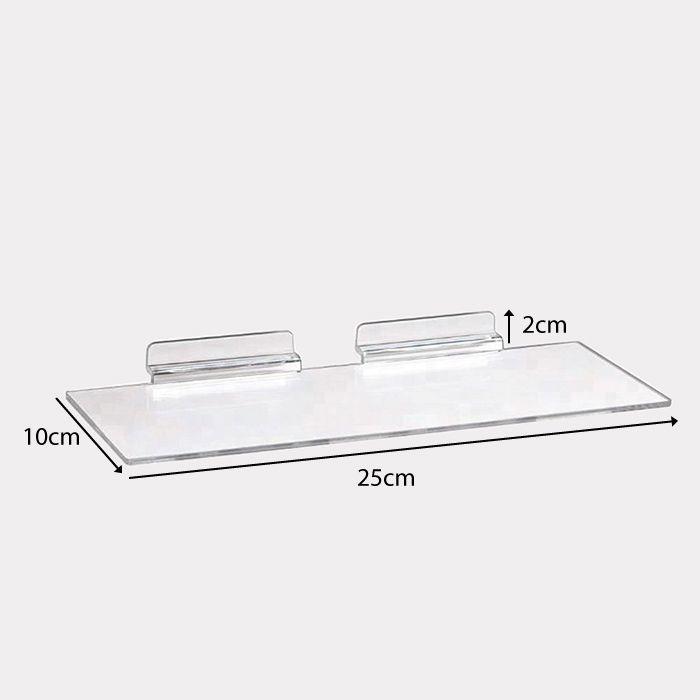 Kit Expositor de Calçado em Acrílico Cristal - 100 Peças