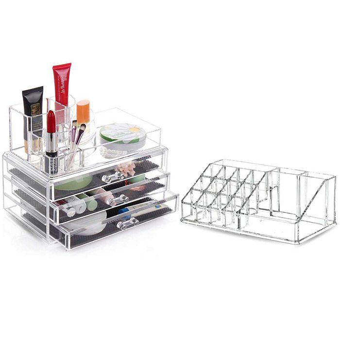Kit Organizador de Maquiagem e Acessórios