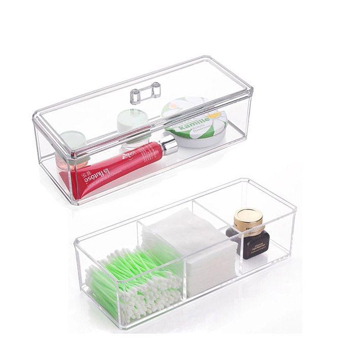 Kit Organizador Giratório Diamond, Porta Algodão e Organizador com Divisórias