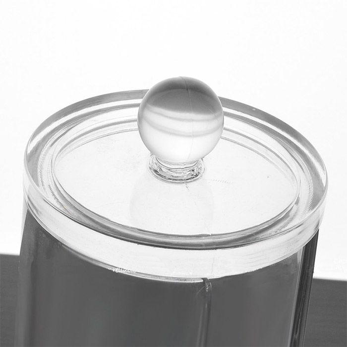 Kit Organizador Giratório Diamond, Porta Algodão em Disco e Porta Cotonete