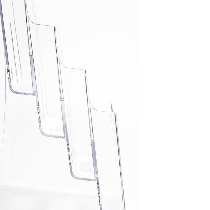 Kit Porta Folheto Quádruplo com Bolsas A4 Vertical (21x30cm) - 10 Peças