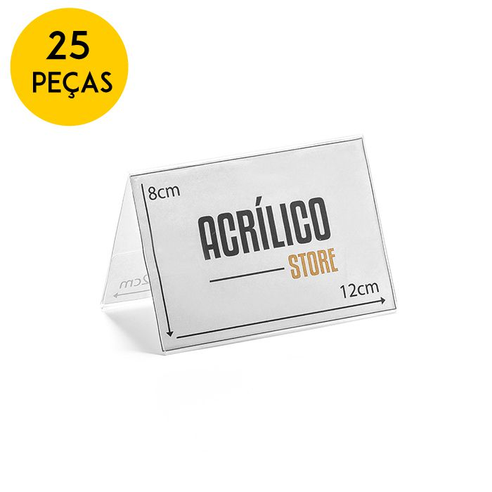 Kit Prisma de Mesa 12x8cm - 25 Peças
