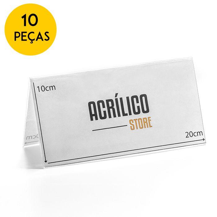 Kit Prisma de Mesa 20x10cm - 10 Peças