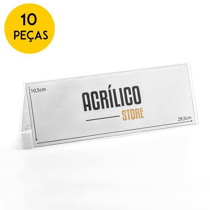 Kit Prisma de Mesa 29,7x10,5cm - 10 Peças