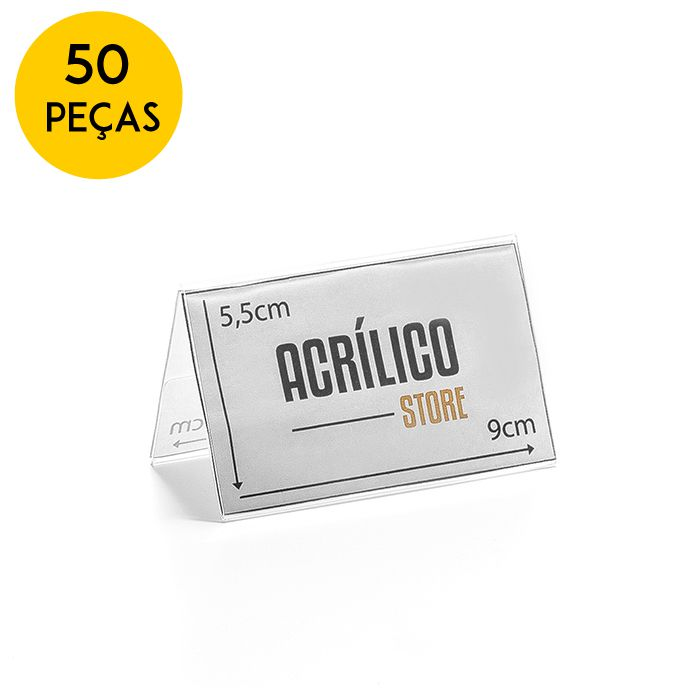 Kit Prisma de Mesa 9x5,5cm - 50 Peças