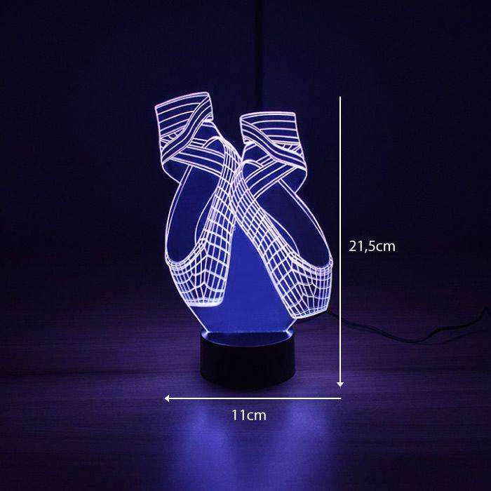 Luminária 3D - Bailarina
