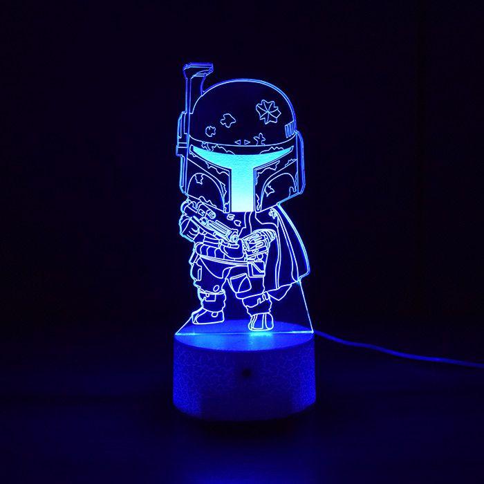 Luminária 3D - Miniatura Boba Fett Star Wars