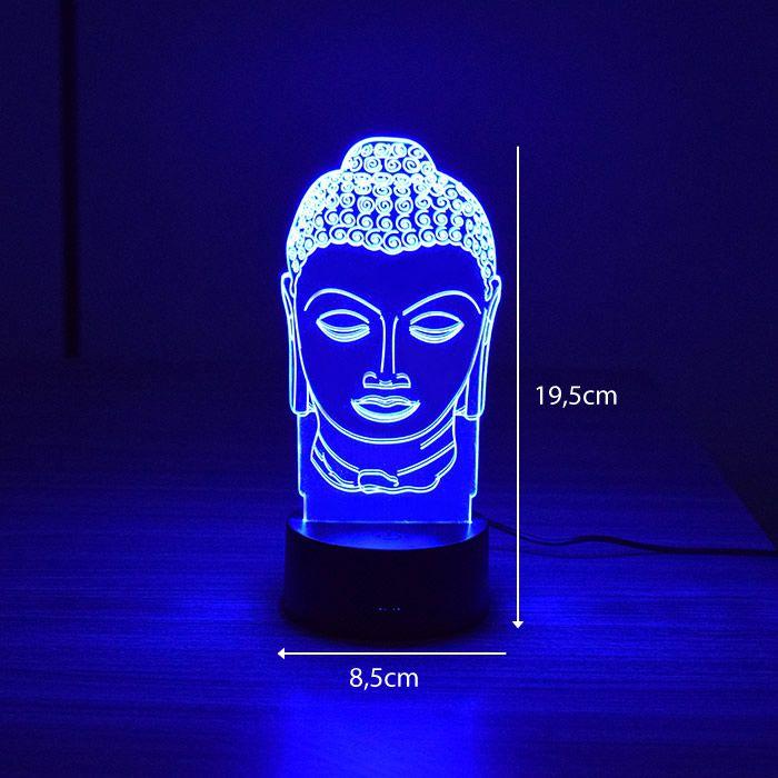 Luminária 3D - Buda