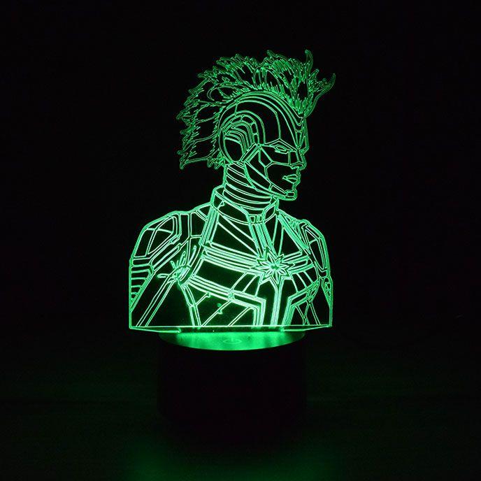Luminária 3D- Capitã Marvel Armadura