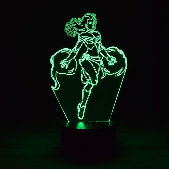 Luminária 3D - Capitã Marvel Heroína