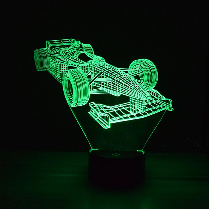 Luminária 3D - Carro de Fórmula 1