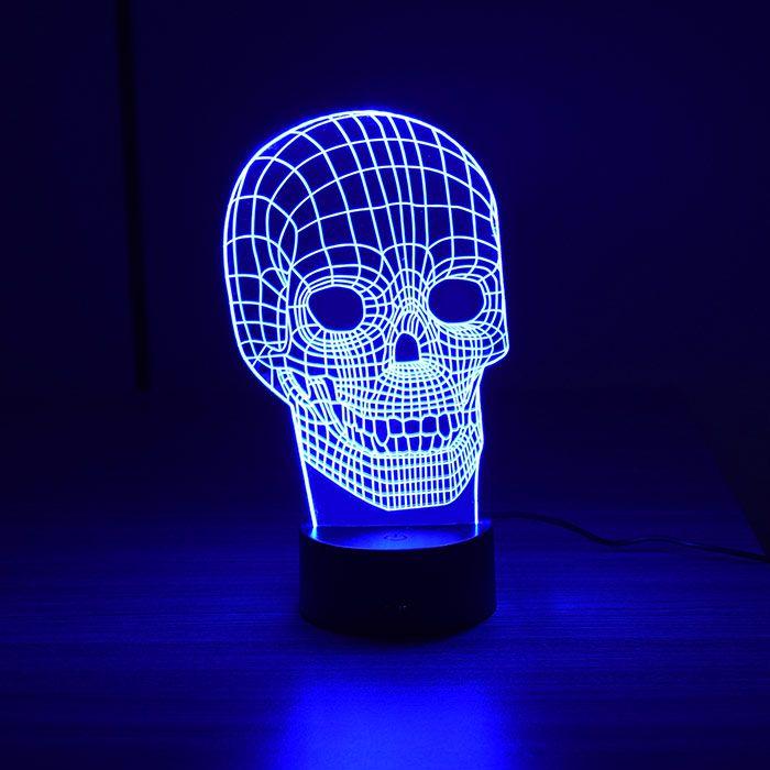 Luminária 3D – Caveira