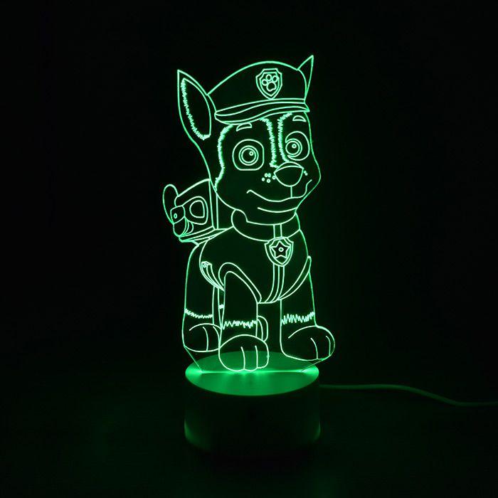 Luminária 3D - Chase Patrulha Canina