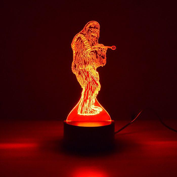 Luminária 3D - Chewbacca Star Wars