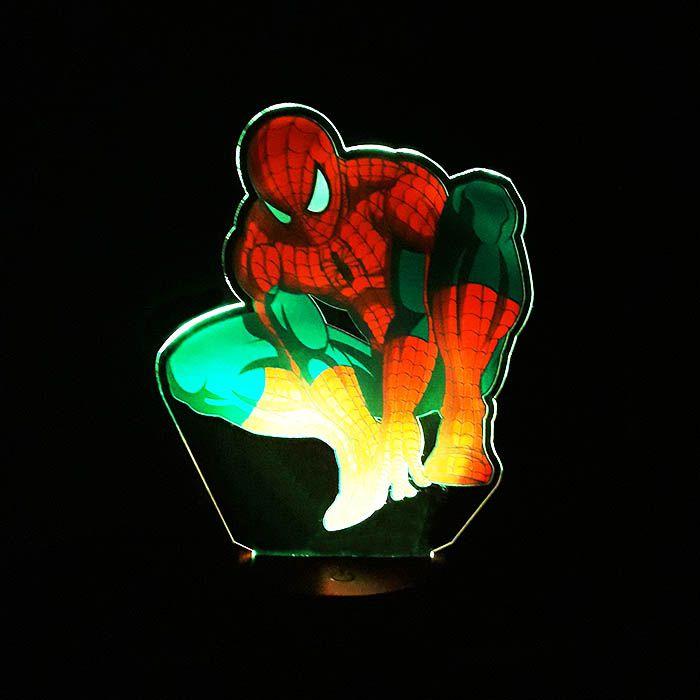 Luminária 3D  Com Impressão Digital - Homem Aranha