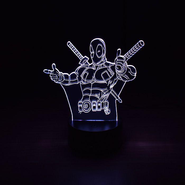 Luminária 3D - Deadpool