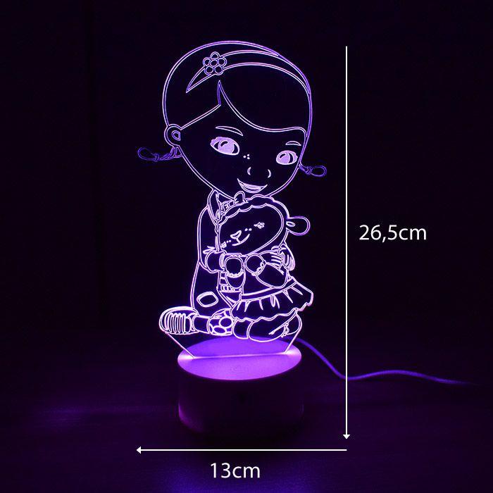 Luminária 3D - Dra. Brinquedo
