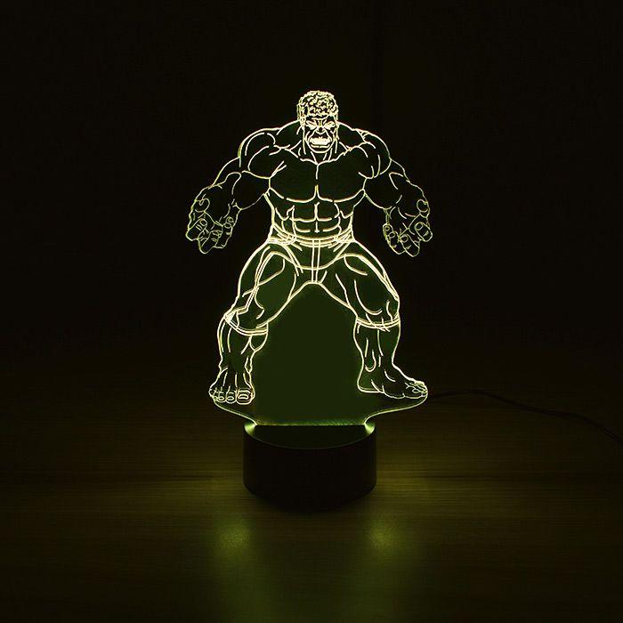 Luminária 3D - Hulk