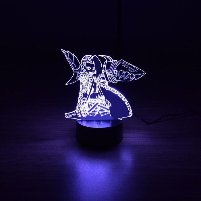 Luminária 3D - Jinx League Of Legends