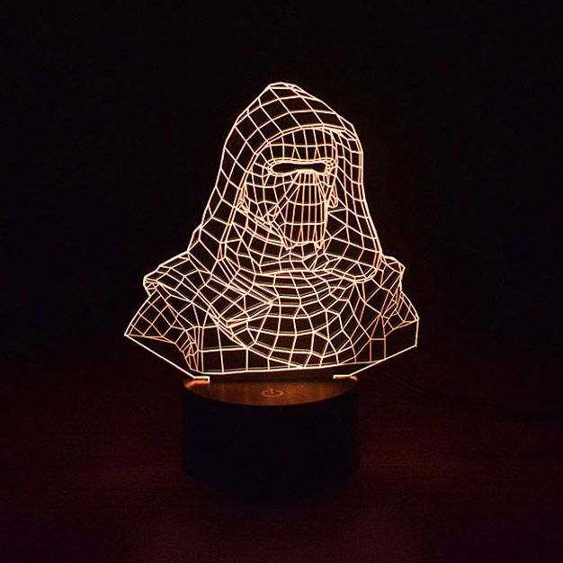 Luminária 3D - Kylo Ren Bust Star Wars