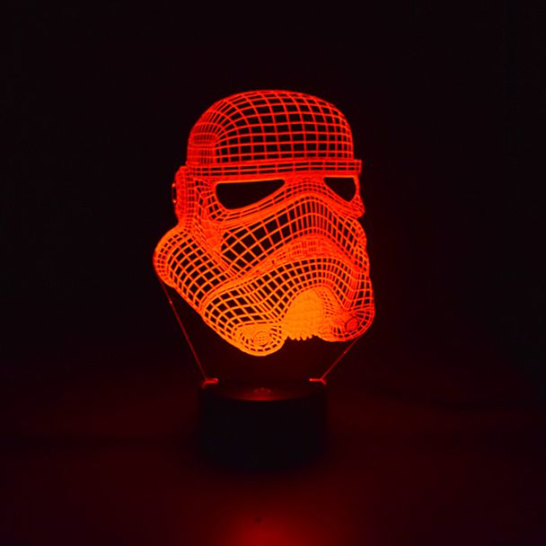 Luminária de Led - Máscara Stormtrooper star Wars