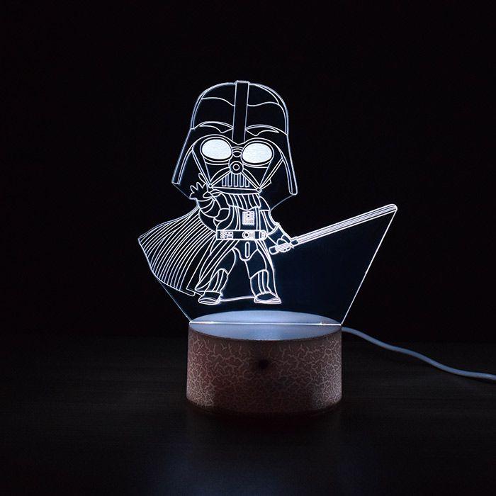 Luminária de Led - Miniatura Darth Vader