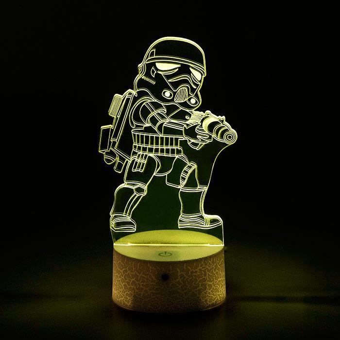 Luminária 3D - Miniatura Stormtrooper