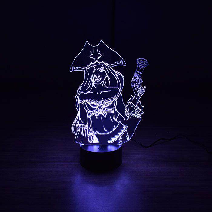 Luminária 3D - Miss Fortune League Of Legends