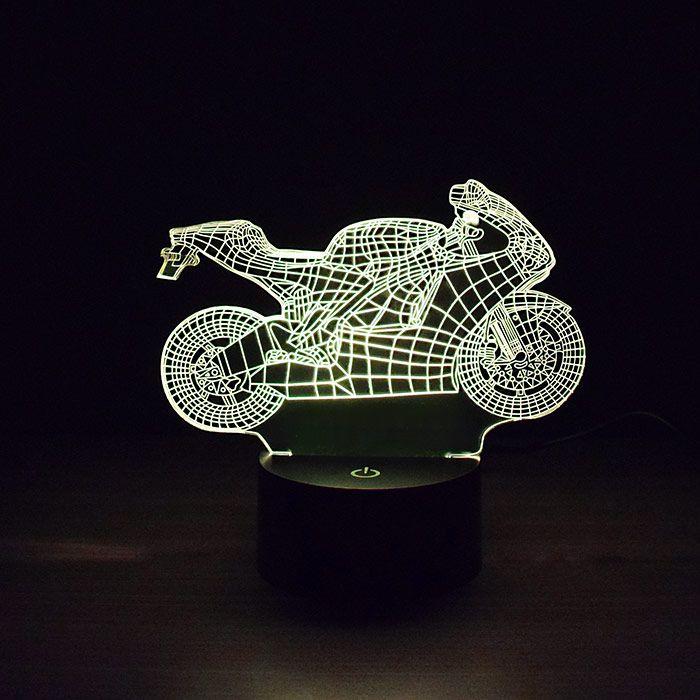 Luminária 3D - Moto Esportiva Hornet