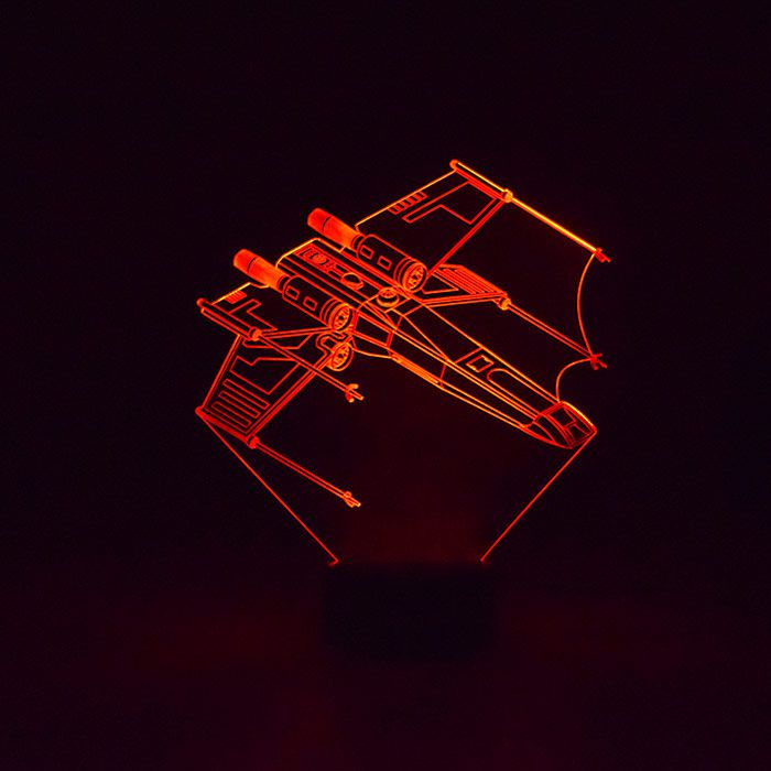Luminária de Led - Nave X-Wing Star Wars