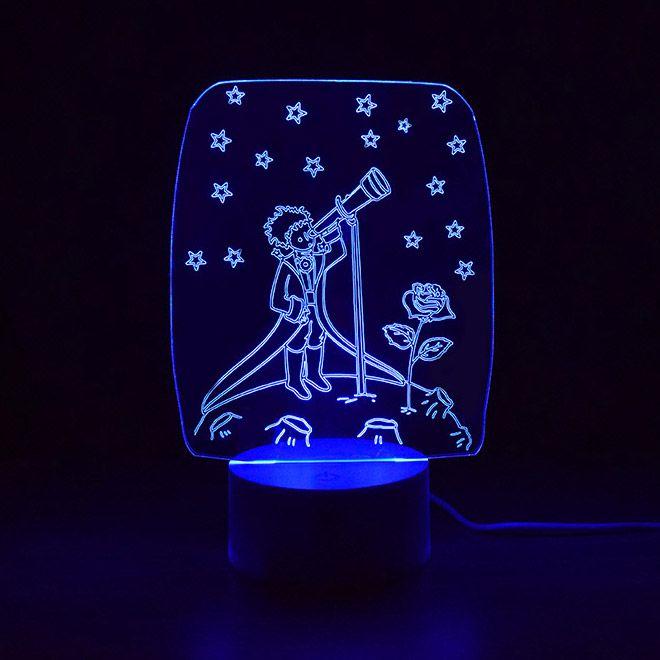 Luminária 3D  - O Pequeno Príncipe