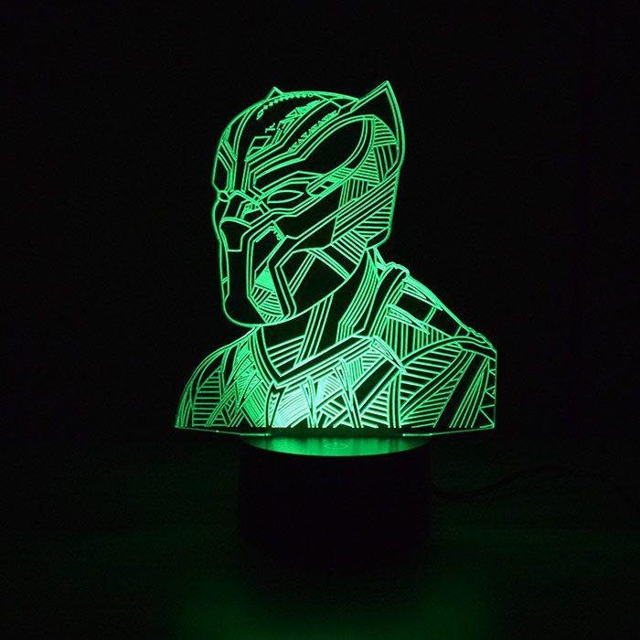 Luminária 3D - Pantera Negra