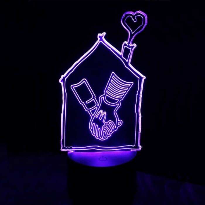 Luminária 3D - Personalizada para sua Marca