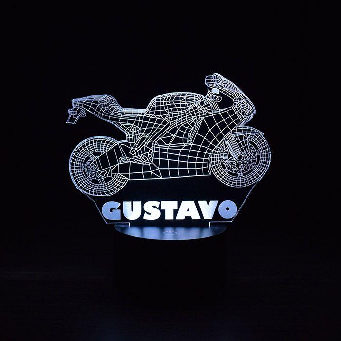 Luminária 3D - Personalizado com seu Nome