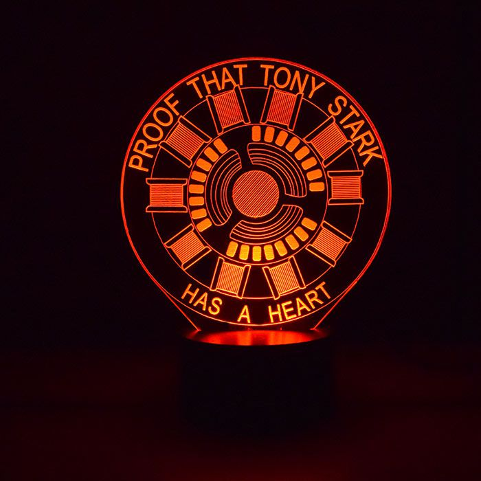 Luminária de Led - Proof That Tony Stark