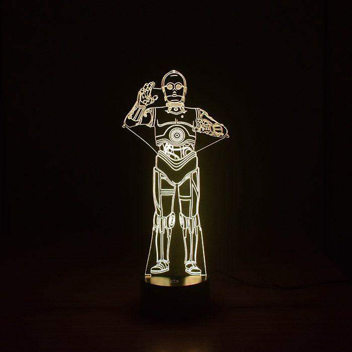 Luminária 3D - Robô C-3P0 Star Wars