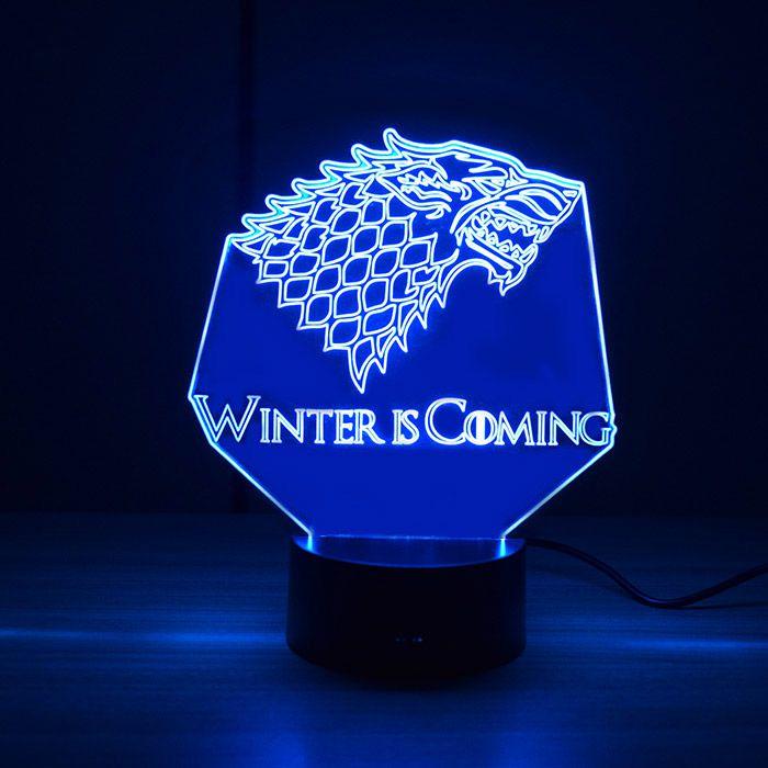 Luminária 3D - Stark Game of Thrones