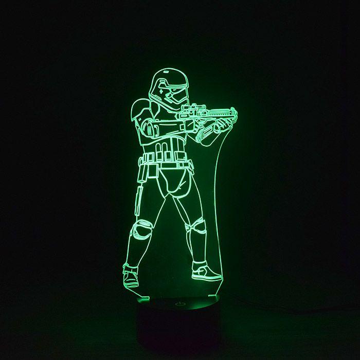 Luminária 3D - Stormtrooper Star Wars