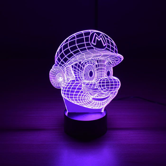 Luminária 3D - Super Mário