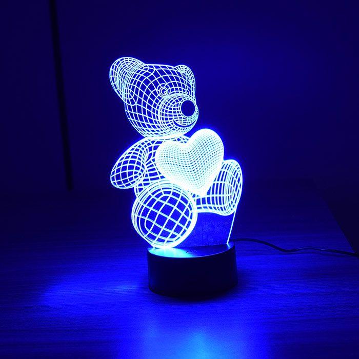Luminária 3D - Urso