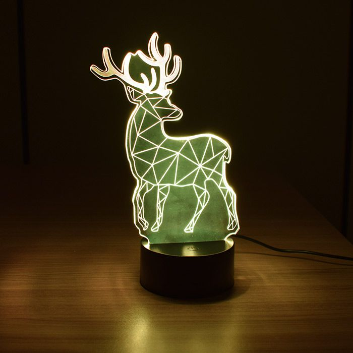Luminária 3D - Alce