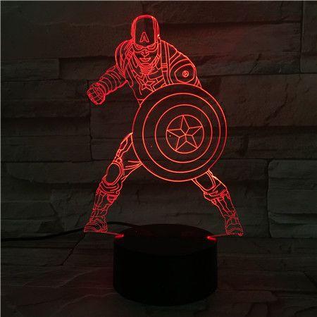 Luminária 3D  - Capitão América