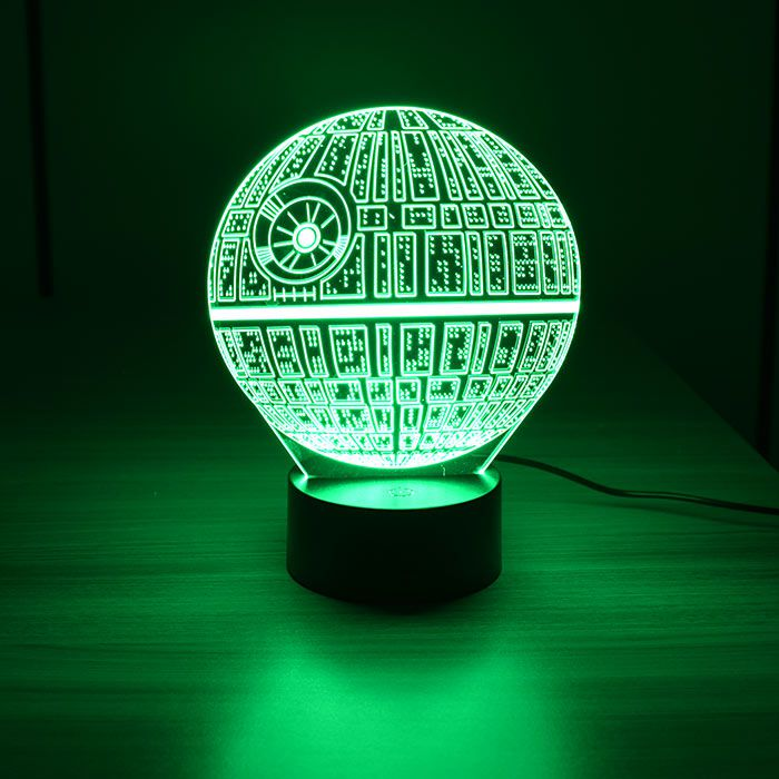 Luminária 3D - Estrela da Morte Star Wars