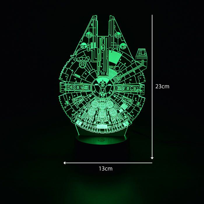 Luminária 3D - Nave Espacial Do Star Wars
