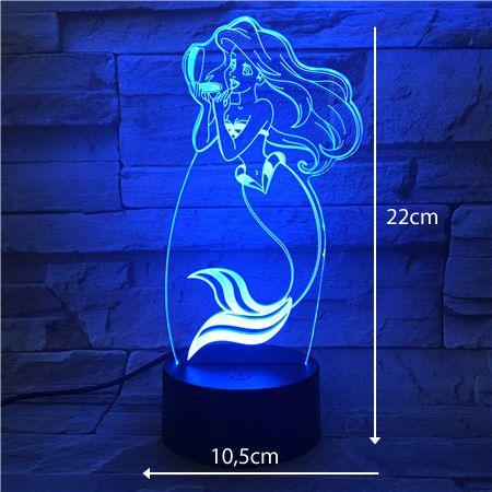 Luminária 3D - Pequena Sereia