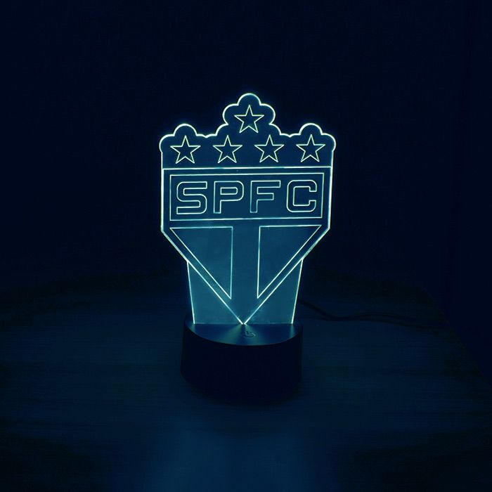 Luminária de Led - Escudo de Time Futebol