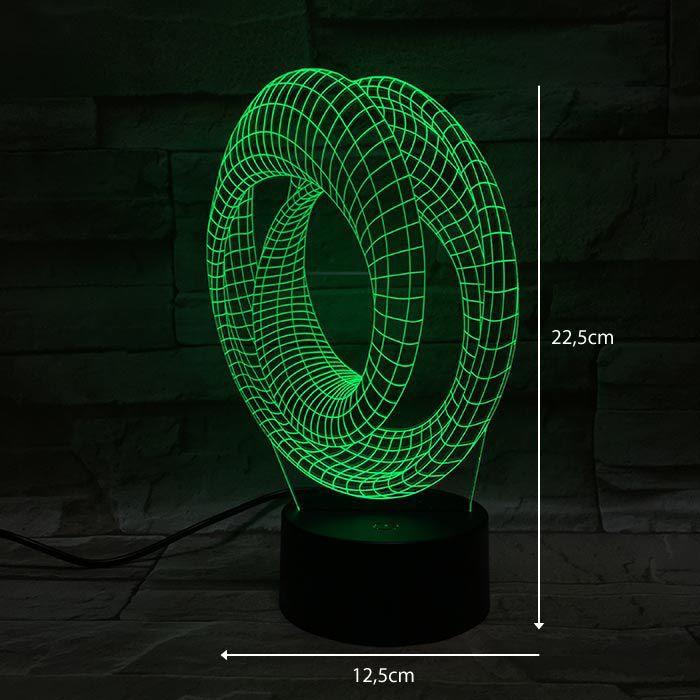 LUMINÁRIA 3D - GEOMÉTRICA