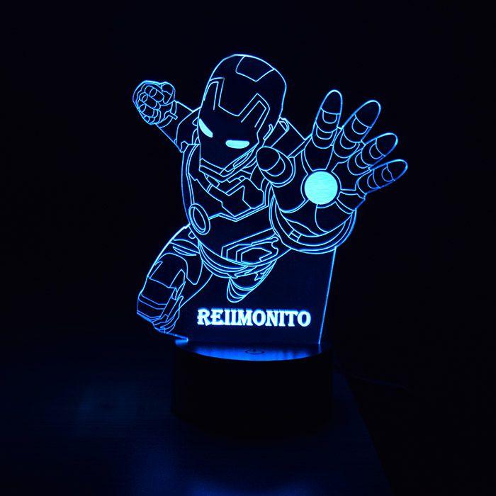 Luminária de Led Infantil com Gravação do Nome