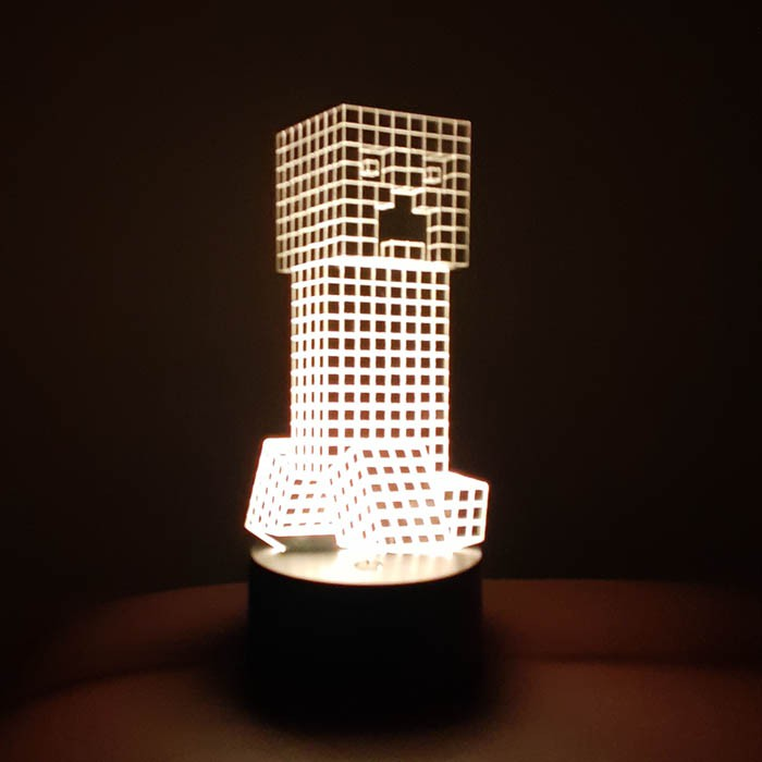 Luminária de Led - Minecraft