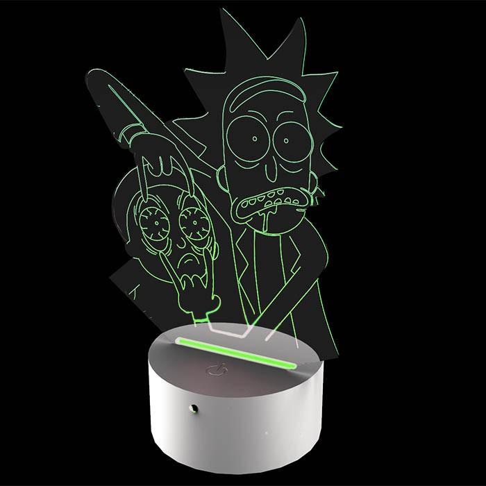 Luminária de Led - Rick e Morty Aventuras